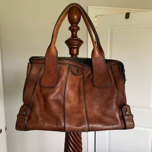 Leather Fossil Tote Bag